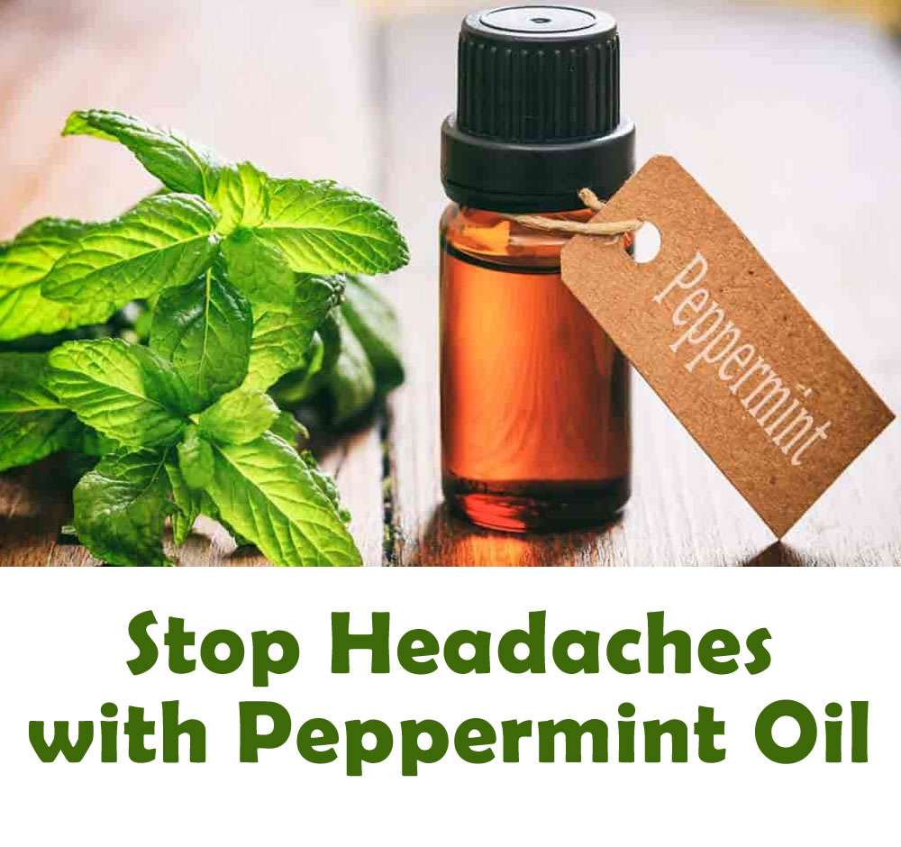 Stop headaches with Peppermint oil